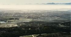 hazy view over Cape Flats