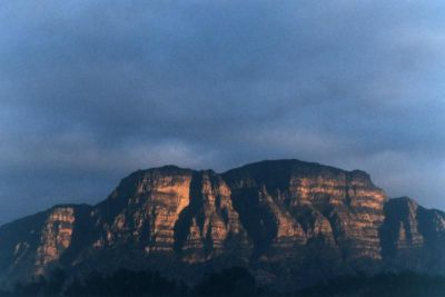 Table Mountain in early morning winter sun