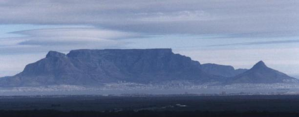 Table Mountain with standing wave cloud