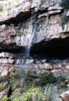waterfall at Woodstock cave