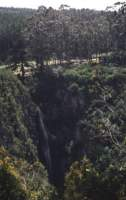 wide angle of Kranshoek waterfall