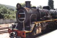 closeup of steam engine at Wilderness station